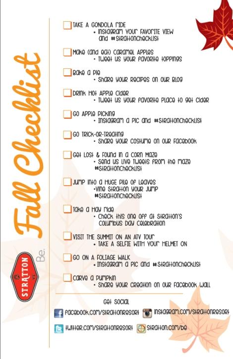Fall Checklist 14