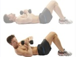 weighted one side crunch