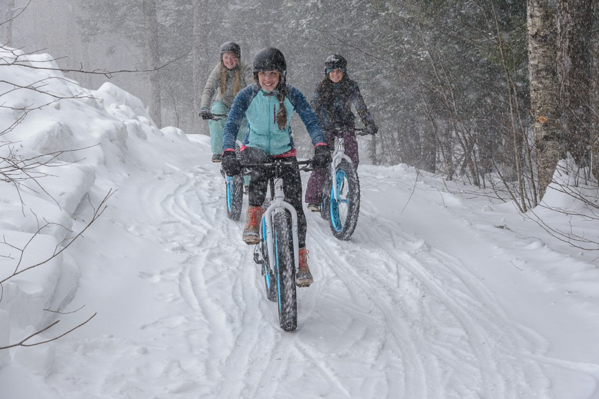 Fat Biking at Stratton Mountain Vermont