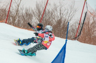 The Boarder Cross track at Stratton. Stratton is the home mountain of Olympic snowboarder Lindsey Jacobellis.