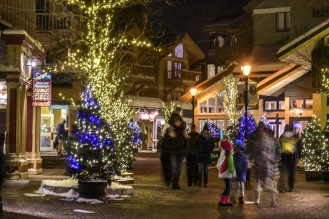 The Village during the holiday months.
