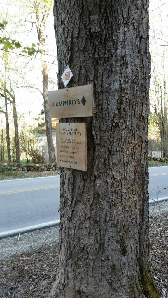 Humphreys trail sign Dorset VT
