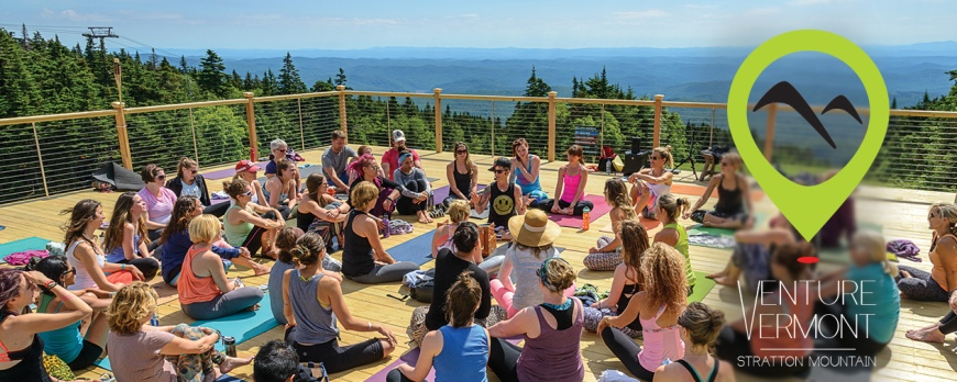 Wanderlust 2015 - yoga at the summit.
