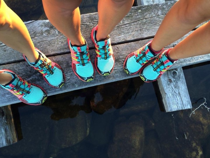 The Salomon hiking shoes we got from First Run were perfect (and pretty).