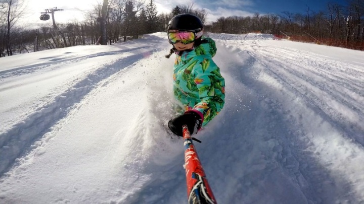 Stratton Mountain Powder Day Selfie