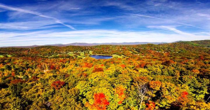 Stratton Mountain Resort at Fall Foliage